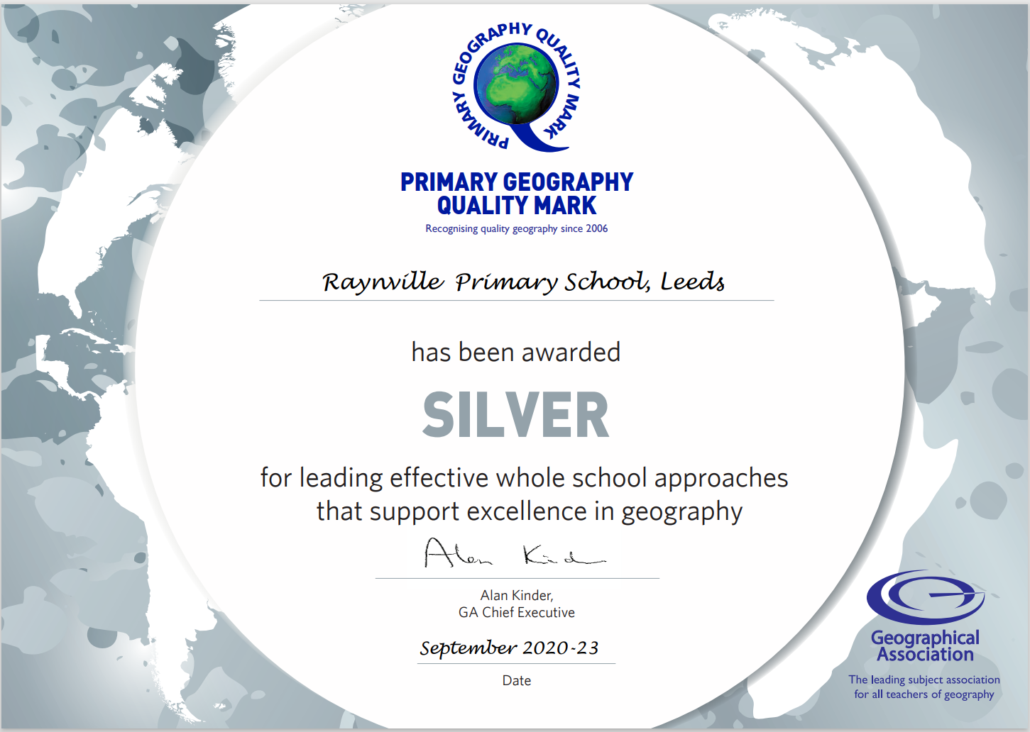 Geography Silver Award!